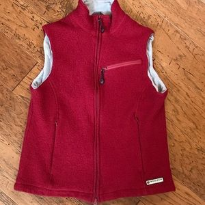 Woolrich Ruby Red Wool Vest